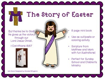 The Easter Story Printable Mini Book Craft