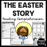 The Easter Story Informational Reading Comprehension and Sequencing Worksheet