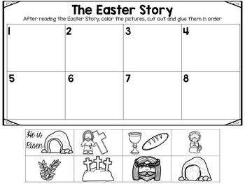 The Easter Story: Sequencing and Retelling