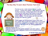Common Core-The Easy Way To Learn Fractions Task Cards