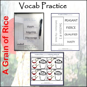 The Easyway to Teach A Grain of Rice - Novel Packet Worksheets and Printables