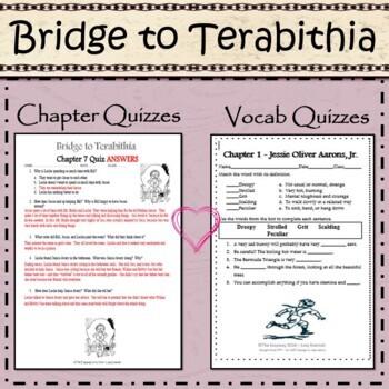 Bridge to Terabithia - Novel Unit Study! Ready to Use Printable Worksheets