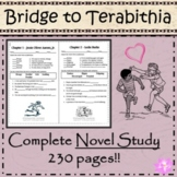 Bridge to Terabithia - Novel Unit Study! Ready to Use Prin