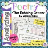 Poetry Task Cards The Echoing Green by William Blake Poetr