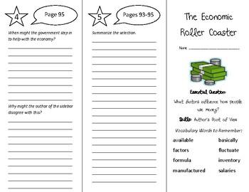 The Economic Roller Coaster Trifold - Wonders 6th Grade Un