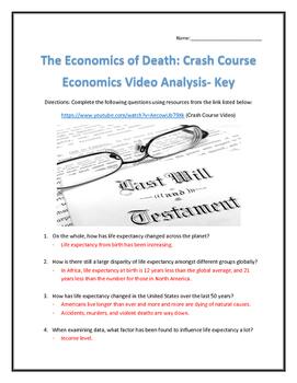 The Economics of Death: Crash Course Economics- Video Analysis with Key