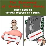 Financial Literacy: Piggy Banks vs. Simple/Compound Interest - Paper Version
