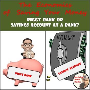 Middle School Economics: Savings - Piggy Banks, Simple & C