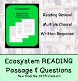 Ecosystem Reading Passage and Questions - Distance Learning Activity