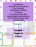 The Editable 2020-2021 Ultimate Teacher Notebook (Polka Do