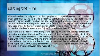 The Editing Process of a Movie