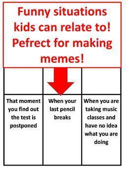 "The Educational Meme Game *Middle School Edition* (""Be a Meme Teacher!"")"