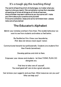 The Educator's Alphabet Book