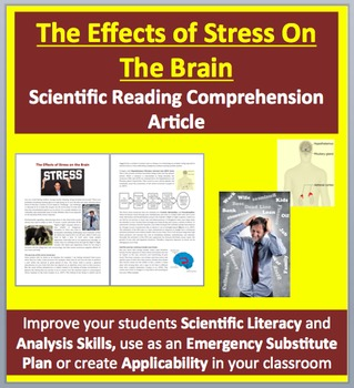 The Effect of Stress on the Brain Grades 11 and Up - Science Reading Article