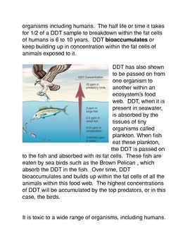 The Effects of DDT on Organisms and their Environment