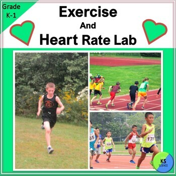 The Effects of Exercise on Heart Rate:  K-5th Grade Experiment Bundle