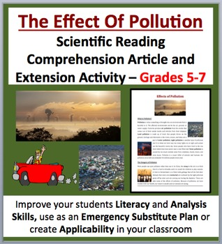 The Effects of Pollution - Scientific Reading Comprehension – Grades 5-7