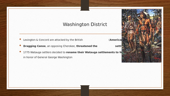 The Effects of the American Revolution on the Watauga Settlement