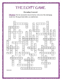 The Egypt Game—50-Word Prereading Crossword—Great Warm-Up for the Book!
