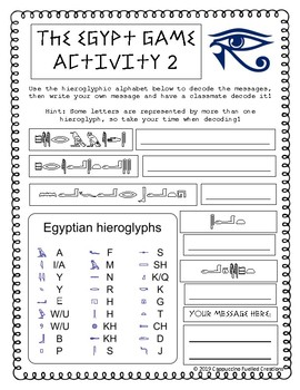 The Egypt Game Activities