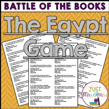 The Egypt Game Battle of the Books Trivia Questions