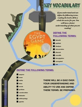 The Egypt Game: Comprehensive Classroom Unit