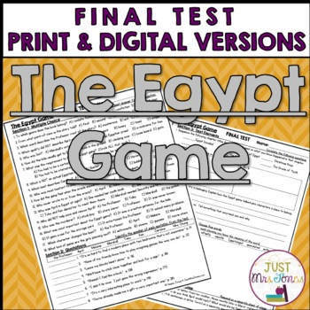 The Egypt Game Final Test