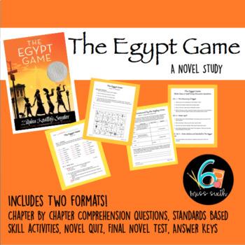 The Egypt Game Novel Study