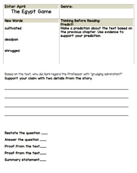 the egypt game novel study teaching resources teachers pay teachers rh teacherspayteachers com Listening Comprehension Questions Comprehension Results