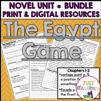 The Egypt Game Novel Unit