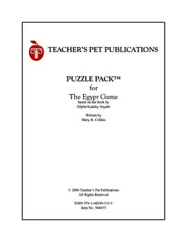 The Egypt Game Puzzle Pack Sampler