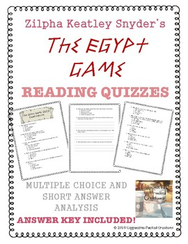 The Egypt Game Quizzes