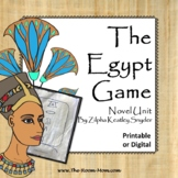 The Egypt Game Novel Unit with distance learning option
