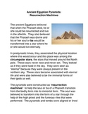 The Egyptian Pyramids: Resurrection Machines Common Core Activities