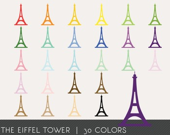 The Eiffel Tower Digital Clipart, The Eiffel Tower Graphics