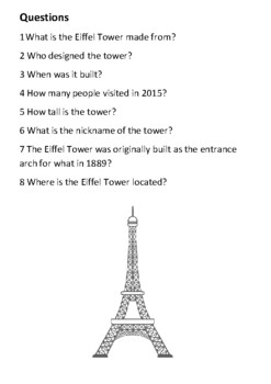 The Eiffel Tower Handout