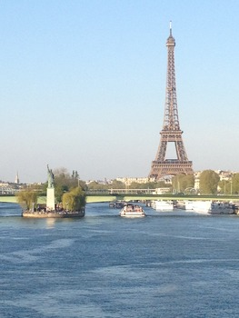 The Eiffel Tower and the Statue of Liberty