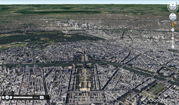 The Eiffel Tower with Google Earth Tours