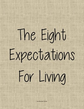 The Eight Expectations- Burlap and Hot Pink