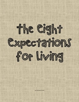 The Eight Expectations -Mint and Burlap