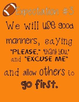 The Eight Expectations -Orange Football