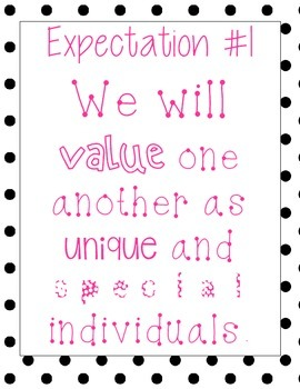 The Eight Expectations- Polka Dots and Hot Pink