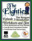 The Eighties Episode 3 Worksheets, Puzzles, and Test: The Reagan Revolution