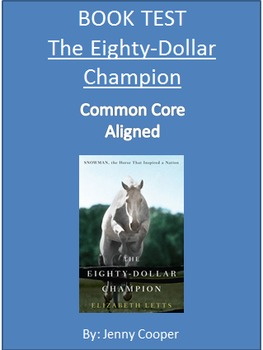 The Eighty-Dollar Champion BOOK TEST