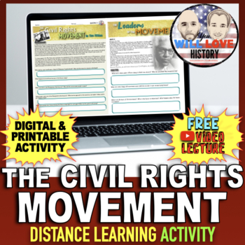 The Civil Rights Movement in the 1950's Activity