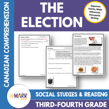 The Election: A CDN Social Studies Reading Comp Lesson  Gr. 3-4