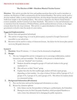 photo relating to Hamilton Lyrics Printable named Hamilton Musical Lyrics Worksheets Education Materials TpT