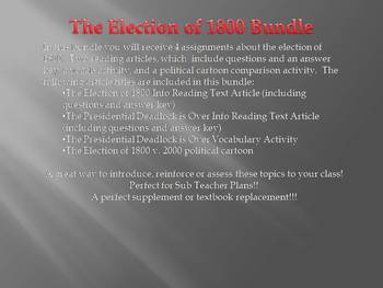 The Election of 1800 Mini Bundle