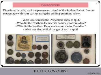 The Election of 1860 Candidate Profiles: Activity Packet