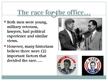 The Election of 1960 and John F. Kennedy Powerpoint